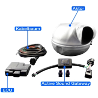 Active sound exhaust systems