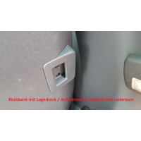Fastening device for cover roller blind VW T6
