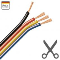 AMPIRE installation cable black / red / yellow / blue 4x...