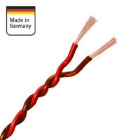 AMPIRE twisted cable RED / BROWN 0.5mm², 50m coil,...