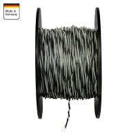 AMPIRE twisted cable GRAY / BLACK 0.5mm², 150m...