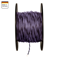 AMPIRE twisted cable VIOLET / BLACK 0.5mm², 150m...