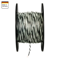 AMPIRE twisted cable WHITE / BLACK 0.5mm², 150m...