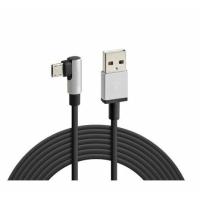 LAMPA USB Ladekabel angewinkelt Typ Micro USB 200cm schwarz