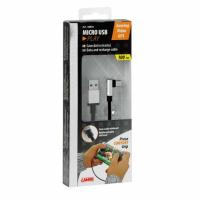 LAMPA USB Ladekabel angewinkelt Typ Micro USB 100cm schwarz