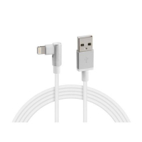 LAMPA USB charging cable angled, type Lightning 100cm white