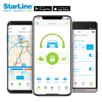 STARLINE CAN bus alarm system with WFS, GSM, GPS and 2...