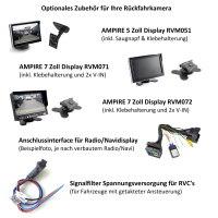 AMPIRE rear view camera for FORD Transit Connect Bj....