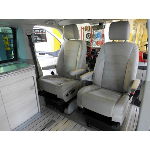 Drehkonsole Fahrerseite inkl. Sitzkasten für VW T5 und T6 inkl. Handbremsadapter, Höhe 250mm