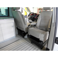 Swivel console on the passenger side including seat box...