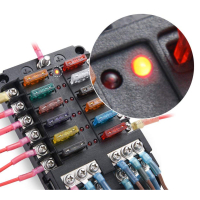 AMPIRE fuse distributor 12-way, including fuses