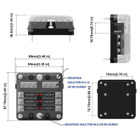 AMPIRE fuse distributor 6-way, including fuses