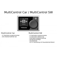Plug and play upgrade kit from auxiliary heater to auxiliary heater for VW T6, all operating options such as digital timer, remote control, GSM