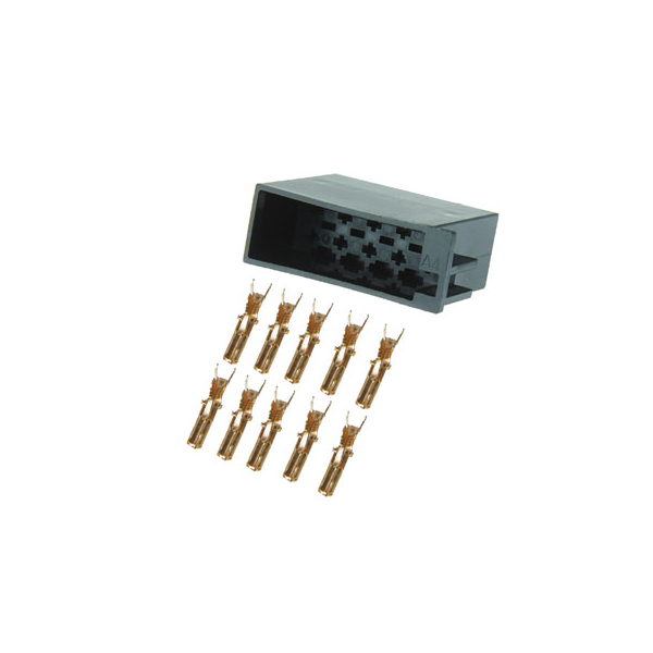 10 poliger ISO Stecker mit Einzelkontakten