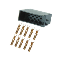10 pin ISO connector with single contacts