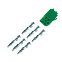 6-pin mini-ISO socket, green with individual contacts