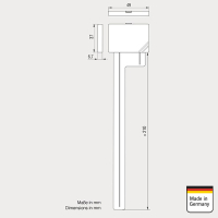 ATBB DAB + glass adhesive antenna for indoor installation