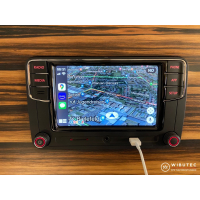 RCD360 Plus car radio with App-Connect, Car-Play, Mirrorlink, Bluetooth, touchscreen, USB and camera input, suitable for various VW models