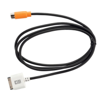 DENSION 9-pin / 30-pin iPod connection cable with orange...