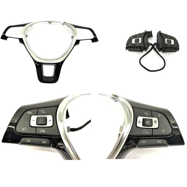 Retrofit kit GRA - cruise control system via multifunction steering wheel for VW Caddy 4 type SA