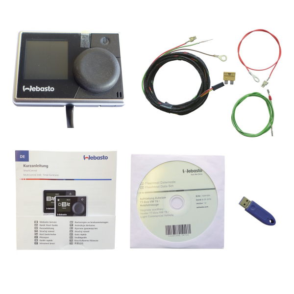 Upgrade kit from auxiliary heater to auxiliary heater for VW T6, operating variant freely selectable