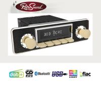 """RETROSOUND Autoradio mit RDS, USB, Bluetooth A2DP, Freisprecheinrichtung und DAB+  Komplett-Set """"Ivory"""" mit Zubehör"""