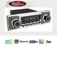"""RETROSOUND Autoradio mit RDS, USB, Bluetooth A2DP, Freisprecheinrichtung und DAB+  Komplett-Set """"Becker"""" mit Zubehör"""