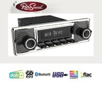 """RETROSOUND Autoradio mit RDS, USB, Bluetooth A2DP, Freisprecheinrichtung und DAB+  Komplett-Set """"Mexico"""" mit Zubehör"""