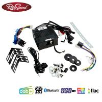 """RETROSOUND Autoradio mit RDS, USB, Bluetooth A2DP, Freisprecheinrichtung und DAB+  Komplett-Set """"Silver"""" mit Zubehör"""