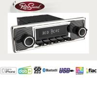 """RETROSOUND Autoradio mit RDS, iPhone Steuerung, USB, Bluetooth A2DP, Freisprecheinrichtung und DAB+  Komplett-Set """"Mexico"""" mit Zubehör"""