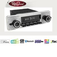 """RETROSOUND Autoradio mit RDS, iPhone Steuerung, USB, Bluetooth A2DP, Freisprecheinrichtung und DAB+  Komplett-Set """"Pagode"""" mit Zubehör"""