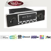 """RETROSOUND Autoradio mit RDS, iPhone Steuerung, USB, Bluetooth A2DP, Freisprecheinrichtung und DAB+  Komplett-Set """"Trim"""" mit Zubehör"""
