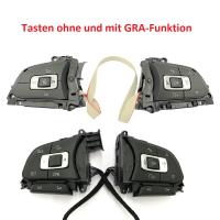 Nachrüstset abgeflachtes Leder - Multifunktionslenkrad für VW T6 (Komplettset zur Nachrüstung für Fahrzeuge mit Kunststofflenkrad)