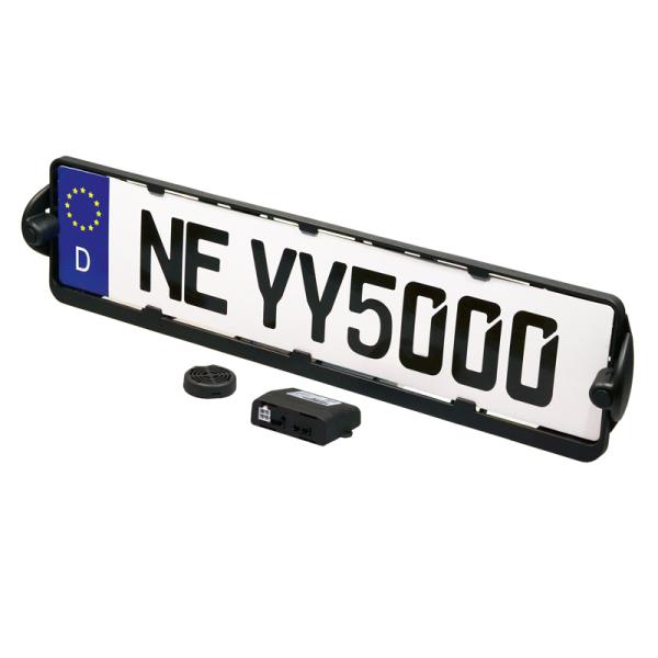 Ayuda de estacionamiento AMPIRE EASYTARGA2 en el marco de la matrícula