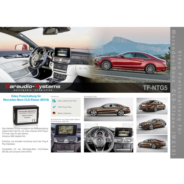 CAS TV activation for Mercedes with Comand Online NTG5 / 5.5 navigation systems