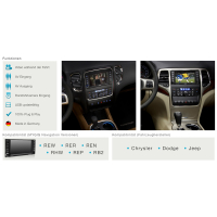 Interface multimédia pour CHRYSLER / DODGE / JEEP avec sans TV, RVC