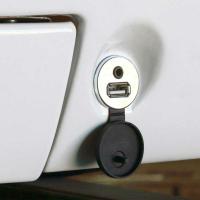 RETROSOUND USB built-in socket with 3.5mm jack, chrome
