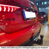 Reequipamiento de un enganche de remolque en el Audi A6...