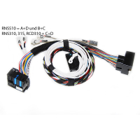 VW Bluetooth Kabelset Plug & Play VW RNS510 RCD510...