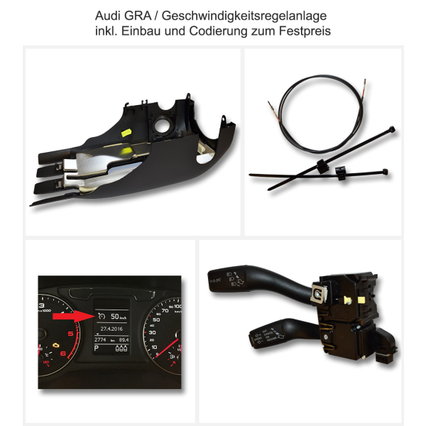 Retrofitting original Audi CCS / cruise control in the Audi A3 8P + 8PA + Cabrio