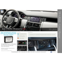 TV in motion for LAND ROVER from 2015 with navigation...