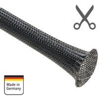 """AMPIRE Geflechtschlauch, 8-15mm, schwarz, """"als laufender Meter"""""""