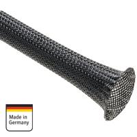 AMPIRE Geflechtschlauch, 17-25mm, schwarz, 100m