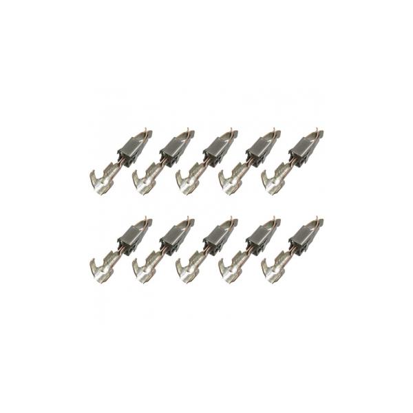 103 188.01, 2,8x0,8 Flachstecker Timer, 0,50mm²-1,00mm², Rastfeder, 10er Set