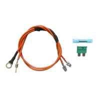 Cable set for connecting the auxiliary heater / auxiliary...