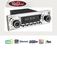 """RETROSOUND Autoradio mit RDS, USB, Bluetooth A2DP, Freisprecheinrichtung und DAB+  Komplett-Set """"Chrome"""" mit Zubehör"""